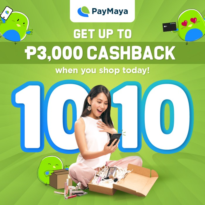 Get as much as P3,000 in cashback when you shop online and in stores with PayMaya this October