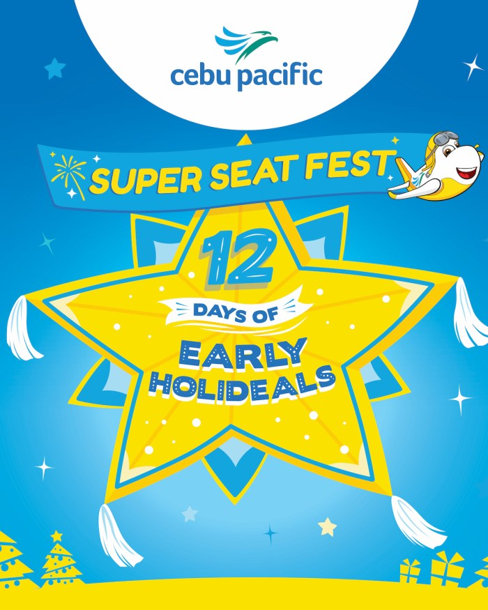 Twelve days of early holi-deals with Cebu Pacific Super Seat Fest