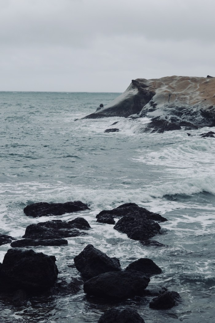 Beautiful waves at Yehliu Geopark