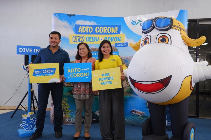 From L-R: DOT VII Regional Director Shalimar Hofer Tamano; Head of Airline Marketing at GMR Megawide Cebu Airport Corporation Aines Librado; Cebu Pacific Director for Marketing, Michelle Eve de Guzman.