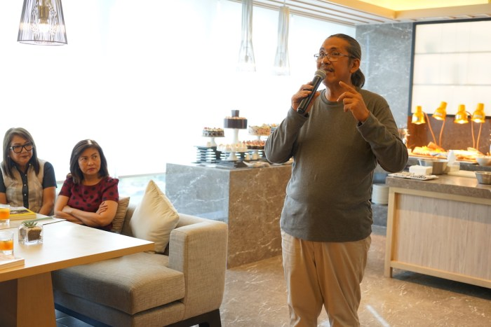 Chef Rafael Jardileza Jr during the Iloilo launch of Let's Cook with Nora book