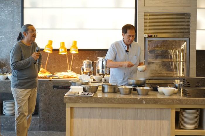 Chef Sandy Daza and Chef Rafael Jardileza Jr during the cooking demo