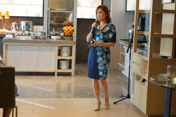 Miss Nina Daza-Puyat welcoming the guests