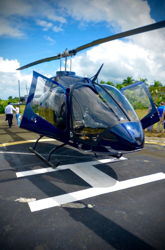 The world-class Bell Helicopter allows for a breath-taking view of the Taal Volcano crater.