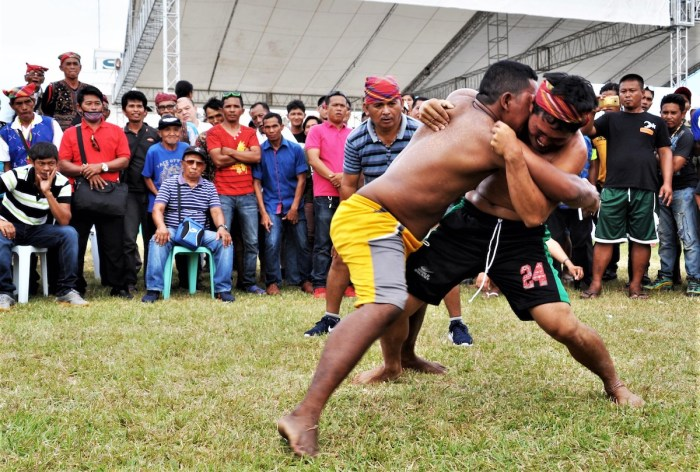 Tribal wrestling in Sarangani