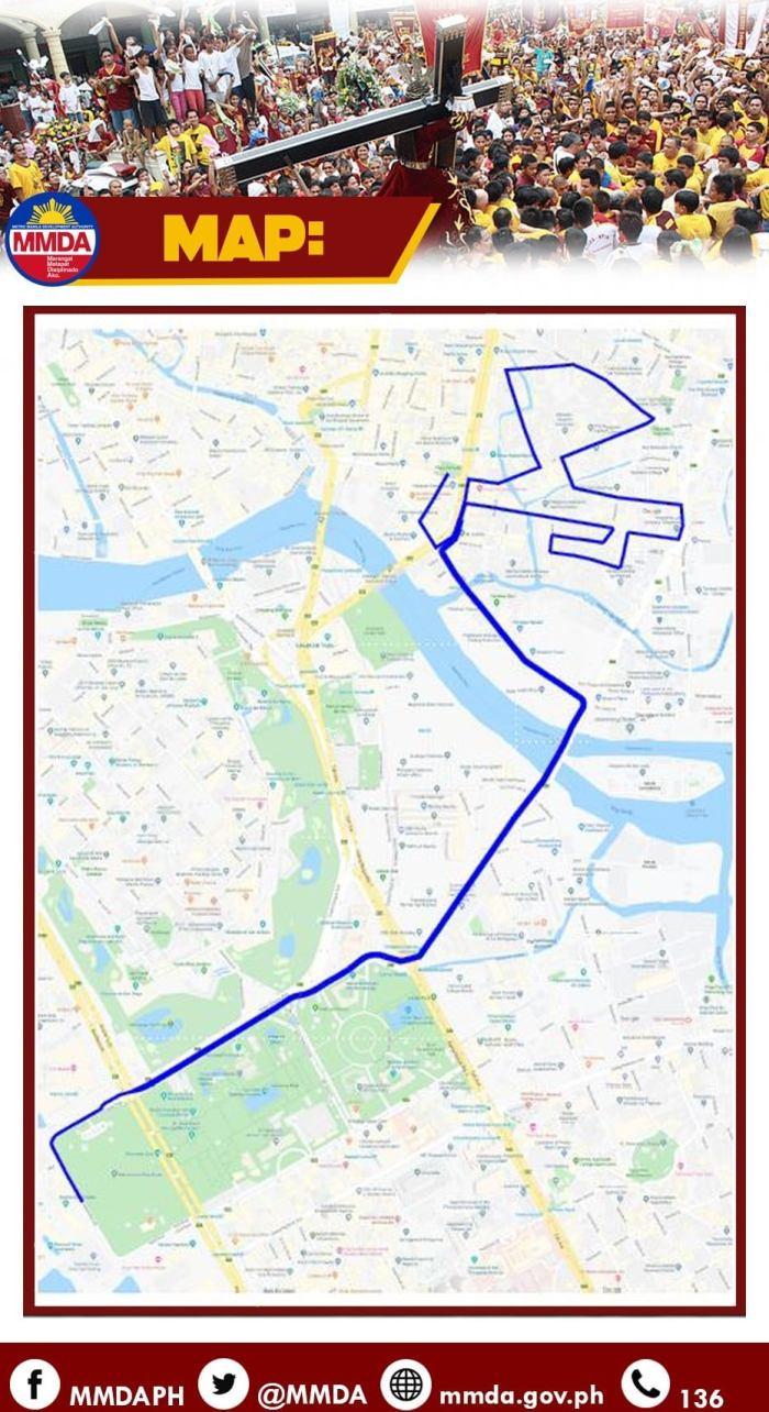 2020 Traslacion Route Map