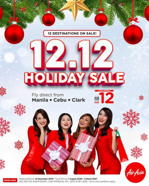 AirAsia 12.12 Holiday Sale