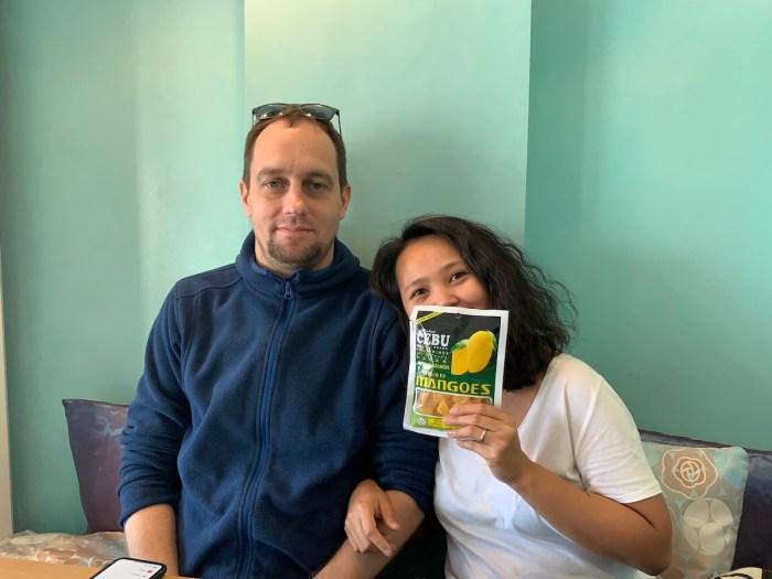 My balikbayan friend Monette and her husband Raphael