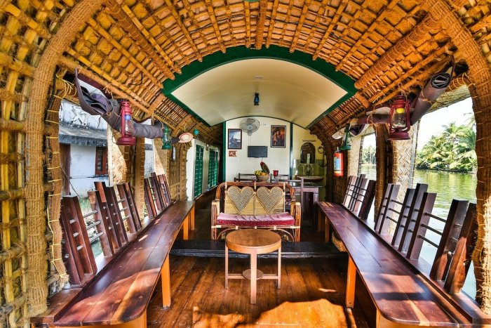 Inside Kerala Houseboat