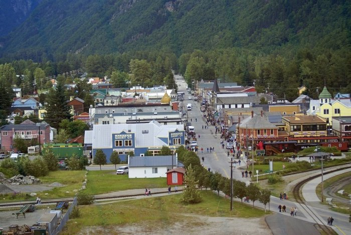 Skagway is a compact city in southeast Alaska, set along the popular cruise route the Inside Passage
