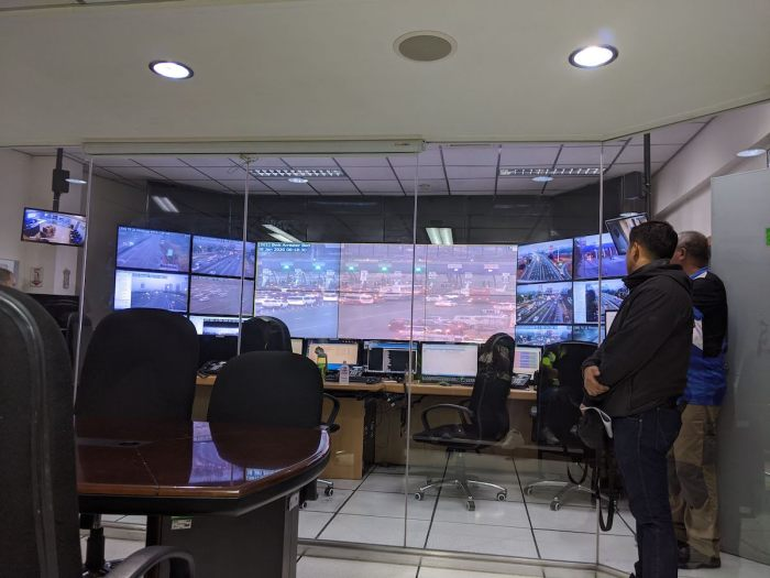 Inside the traffic control room