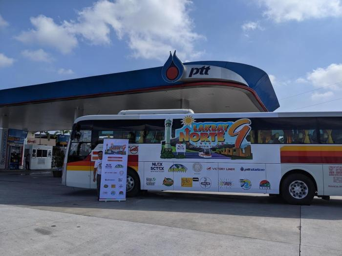 Our Victory Liner bus at the PTT SCTEX