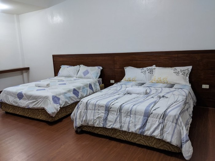 Double room at MacArthur Samson Beach Resort