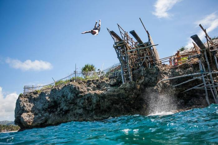 Cliff jumping into the Boffrey photo via DOT