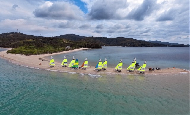 Hobie cats at Bonbon Beach in Romblon