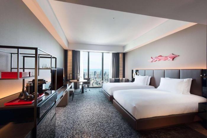 Room with a view at Conrad Osaka