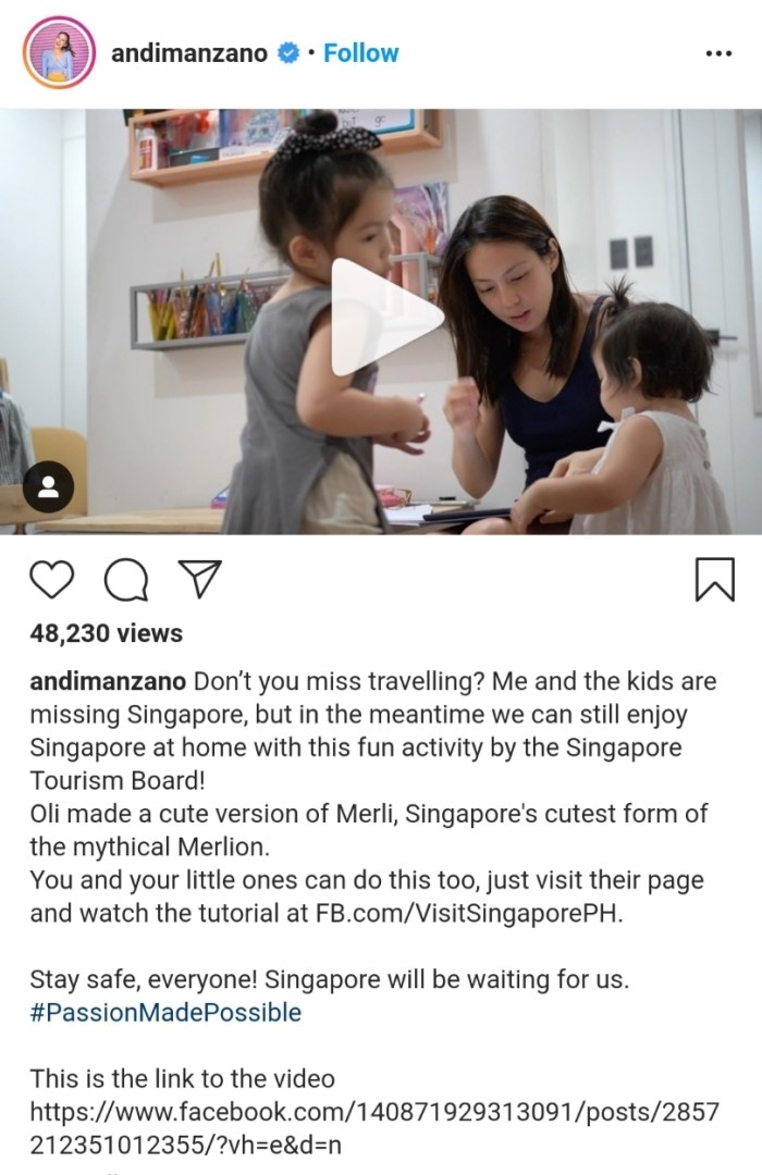 Andy Manzano Raees and daughters, Olivia and Amelia, traveled to Singapore's Memory Lane via an entertaining drawing tutorial from the Singapore Tourism Board's Murali. Singapore recently agreed to allow the search and discovery of the lion city. The city has launched an online entertainment program for the whole family.