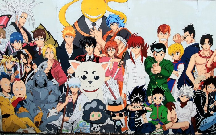 Popular characters in some of the most successful shounen animes of all time