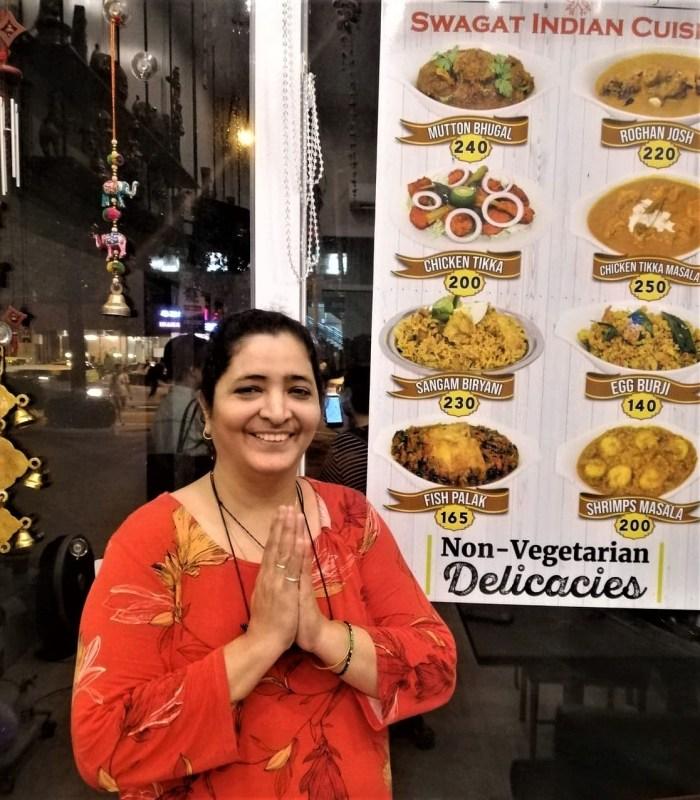 Swagat Indian Cuisine owner Komal Khanchandani