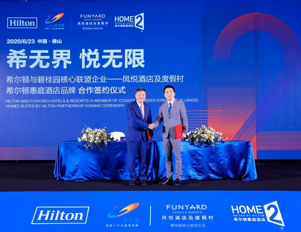 Hilton and Country Garden Announces New Strategic Cooperation to Develop 1,000 Home2 Suites by Hilton(R) in China