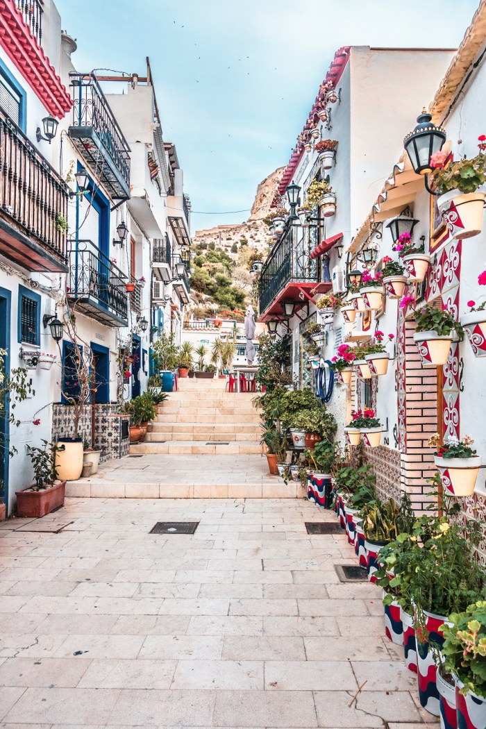 Barrio de Santa Cruz in Alicante Spain photo-via-DepositPhotos