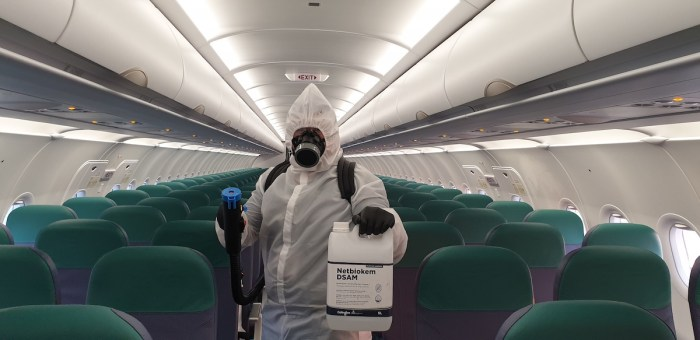 Cebu Pacific Aircraft disinfection