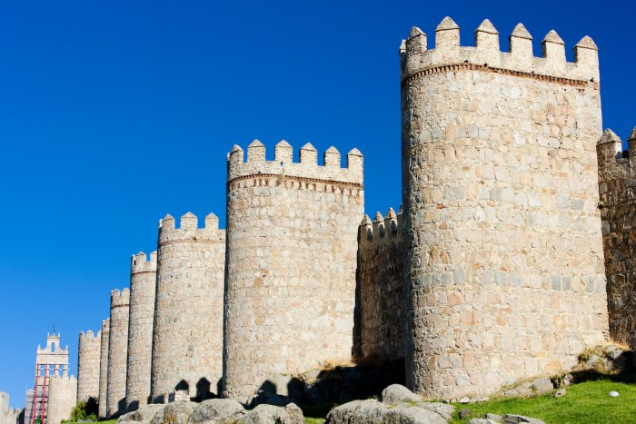 fortification of Avila, Castile and Leon, Spain photo via DepositPhotos