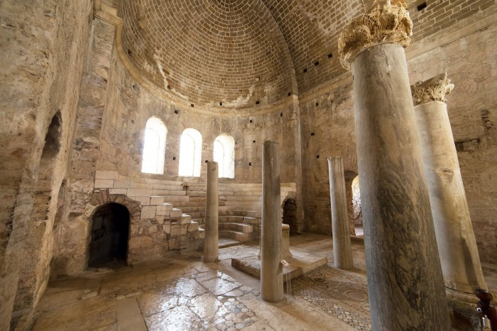 Interior of the St. Nicholas Church aka Santa claus in Demre Turkey photo via Depositphotos