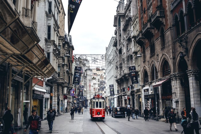 Istiklal Avenue in Istanbul photo via Depositphotos