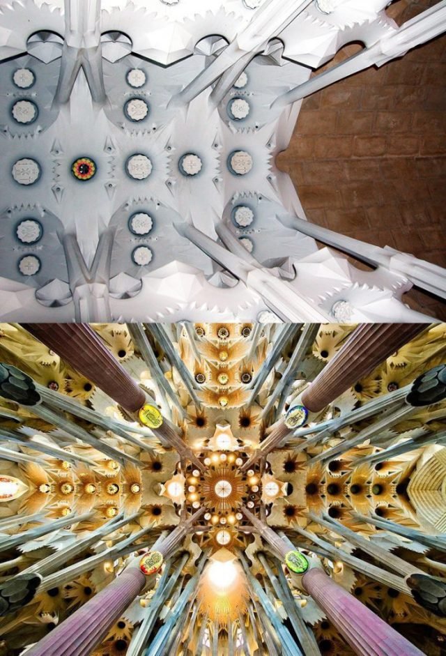 Above, the unfinished ceiling that I shot in 2005 and below, the finished one (Credits: Smithsonian)