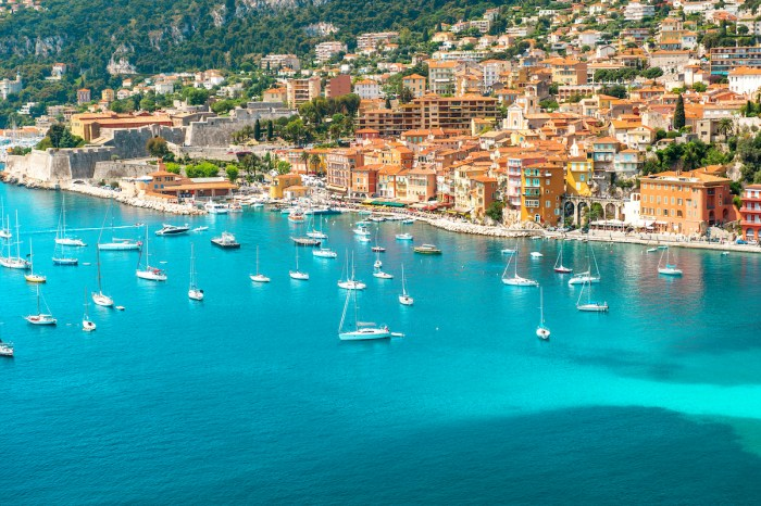 View of luxury resort Villefranche-sur-Mer, Cote d'Azur, french reviera, Provence, near Nice and Monaco. photo via DepositPhotos.com