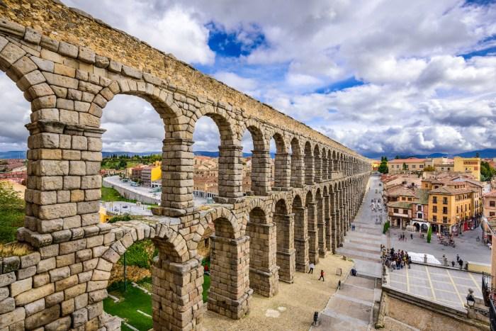 Segovia Aqueduct photo via DepositPhotos.com