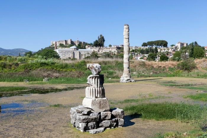 The ruins of the Temple of Artemis. Selcuk, Turkey via Depositphotos