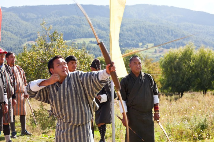 Archery, Bumthang Valley, Bhutan photo via Depositphotos