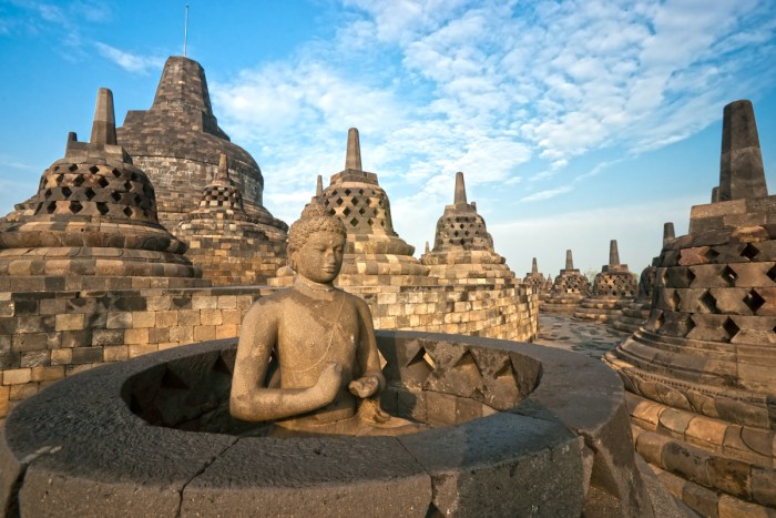 Borobudur Temple, Yogyakarta, Java, Indonesia via DepositPhotos