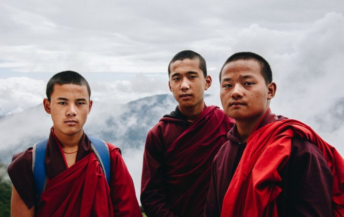 Buddhist Monks in Bhutan by Adli Wahid via Unsplash