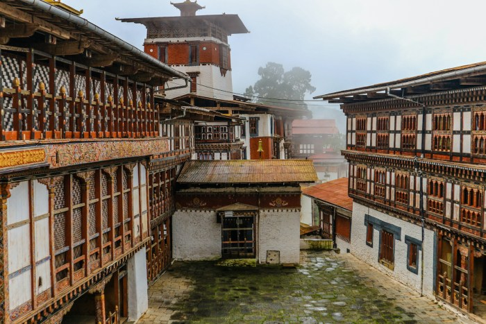 Inner view of Trongsa Dzong, one of the oldest Dzongs in Bumthang, Bhutan via DepositPhotos