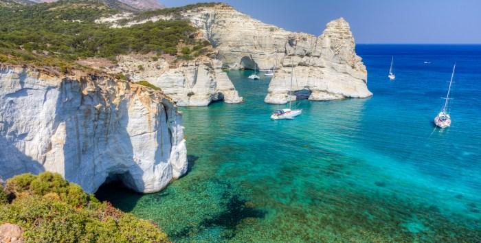 Kleftiko in Milos Greece image via DepositPhotos