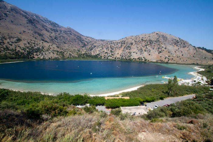 Lake Kournas in Crete photo via Depositphotos