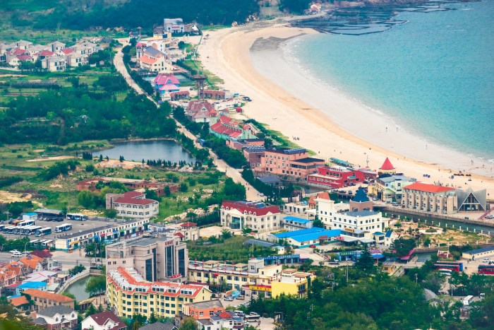 Laoshan overlooks the scenery of Qingdao photo via DepositPhotos