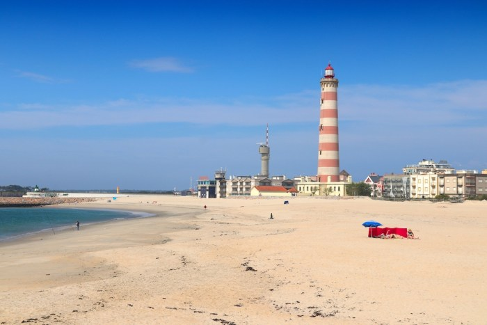 Lighthouse of Praia da Barra photo via Deposit Photos