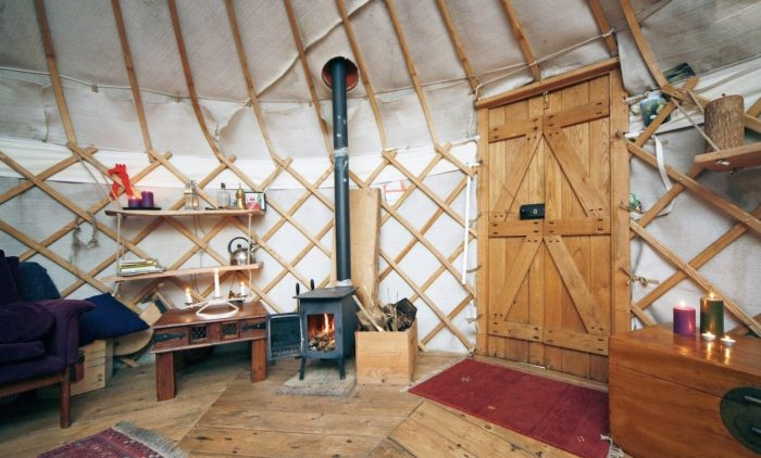 Upon entering Yurt, visitors will have to leave their horses outside and remove their shoes