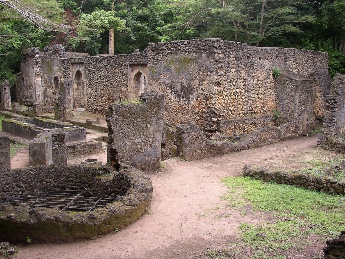 Ruins of the Great Mosque at Gedi