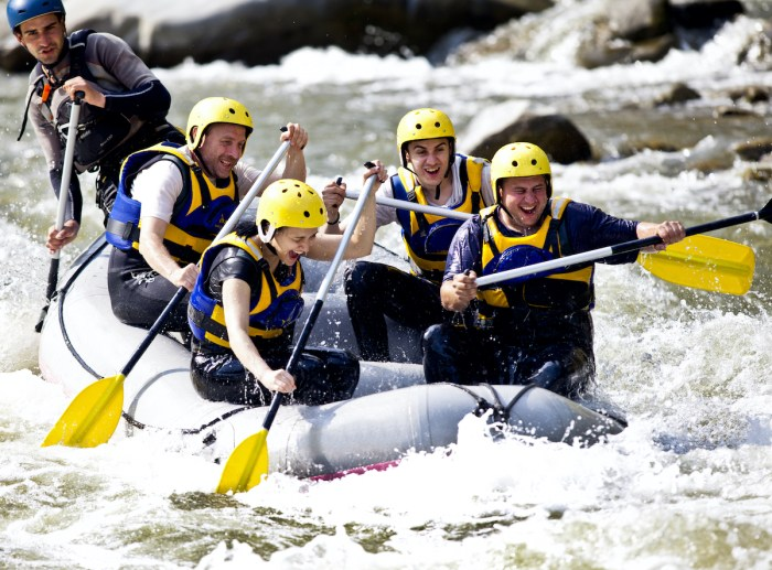 Whitewater rafting adventure photo via Depositphotos