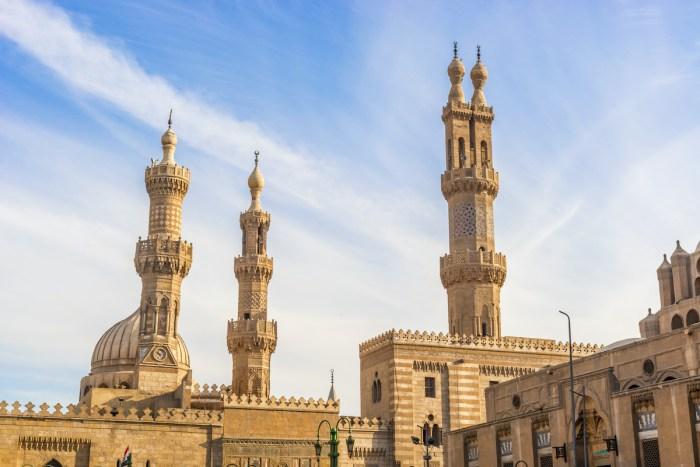 Al Azhar Mosque in Cairo, Egypt photo via Depositphotos
