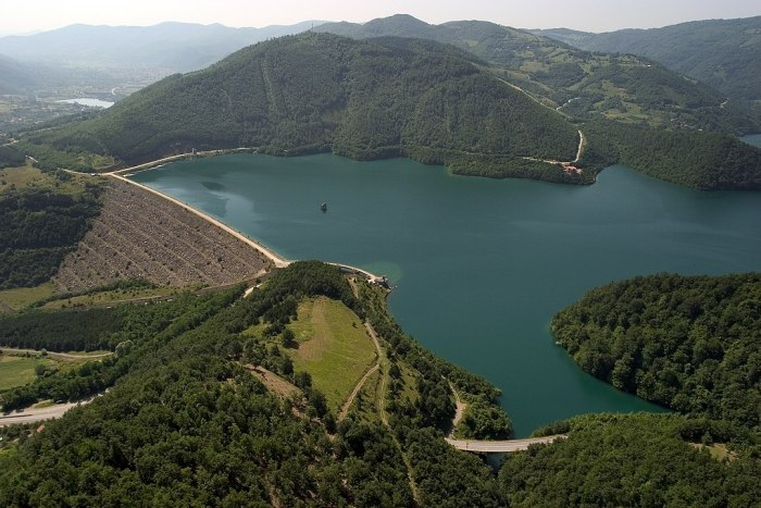 Gazivoda Lake by Bobik via Wikipedia CC