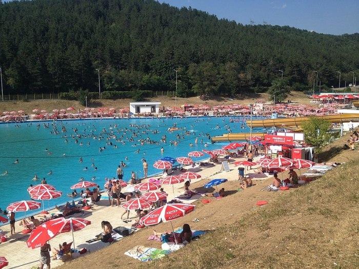 Germia's Swimming Pool by Bdx via Wikipedia CC