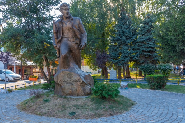Memorial of Adrian Krasniqi in Peja, Kosovo via Depositphotos