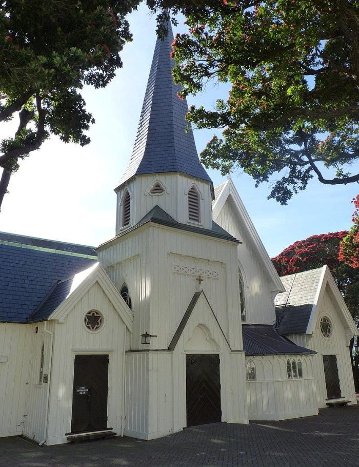Old St Paul's, Wellington by Michael Klajban via Wikipedia CC