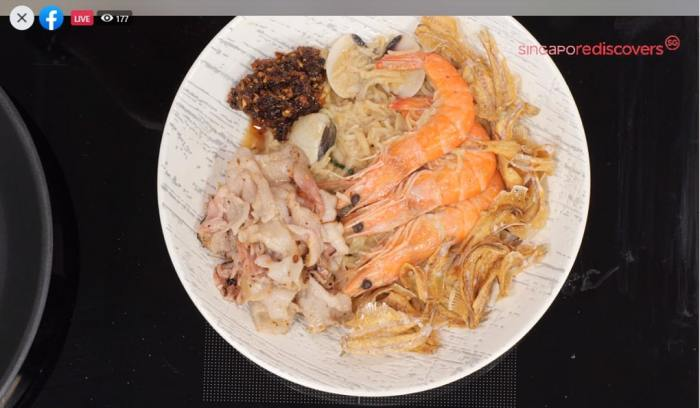 Chef Ming Tan's mouth-watering version of Hokkien Mee, with prawns, crispy fish, and pork belly.